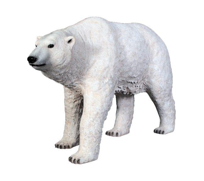 Fibreglass Polar Bear Statue Walking