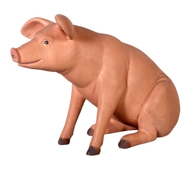 Fibreglass Small pig Statue Sitting