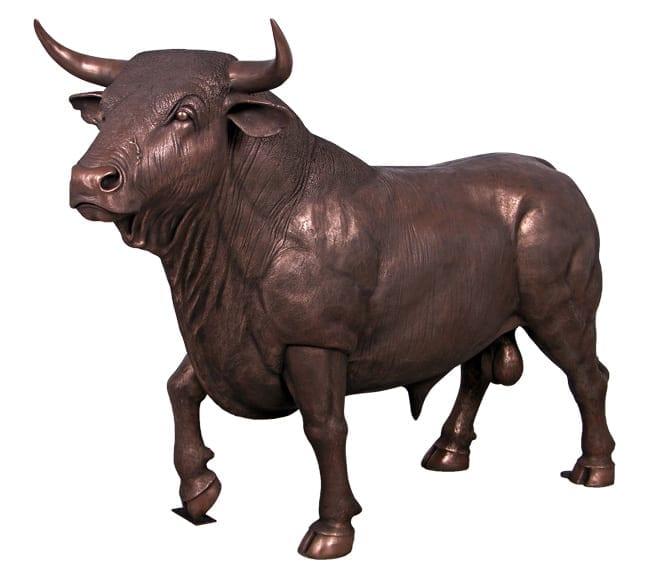 Fibreglass Spanish Bull Sculpture