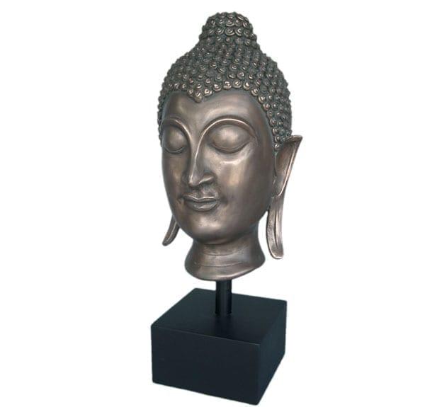 Fibreglass Sukothai buddha head Sculpture in Bronze