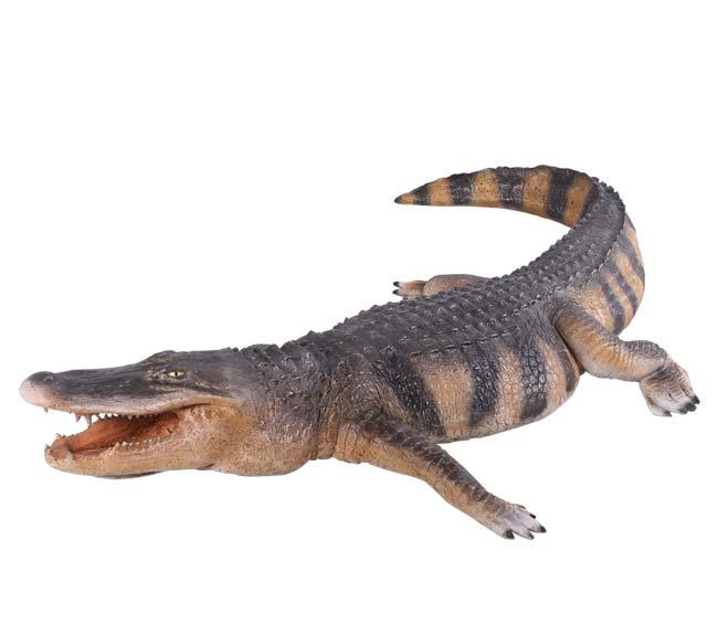 Fibreglass alligator statue
