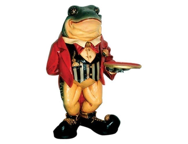 Frog Butler Statue Small AFFB