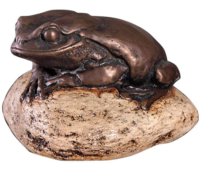 Frog Green Tree Frog On Rock Small Bronze B