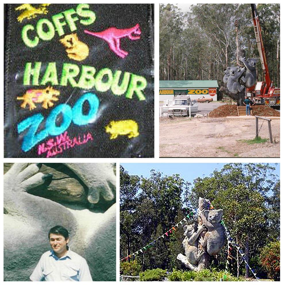 Giant Koalas on Tree Stump set of  photos