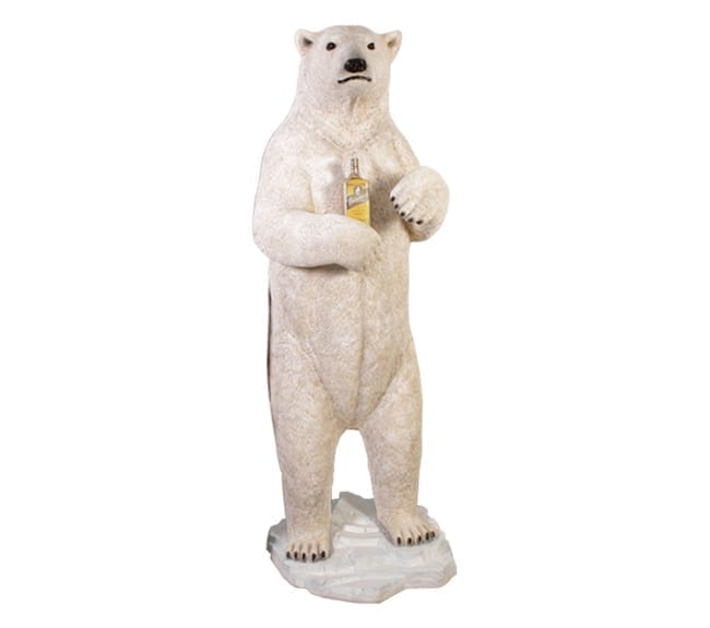 Guzzling Polar Bear Statue With Rum NW
