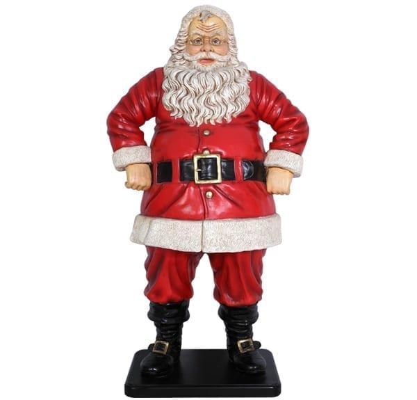 Jolly santa statue