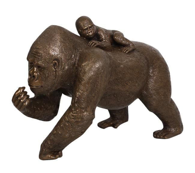 Life Size Gorilla withbaby resin Statue