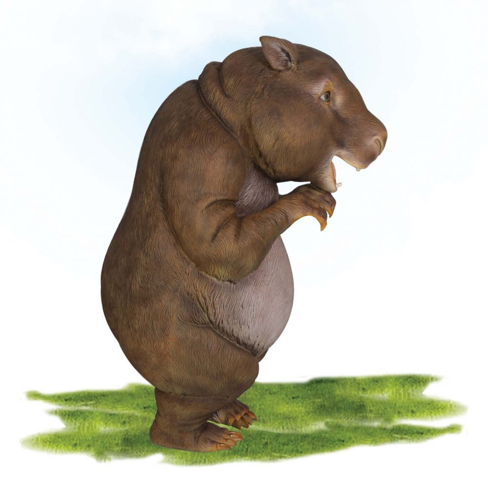 Funny Wombat Statue