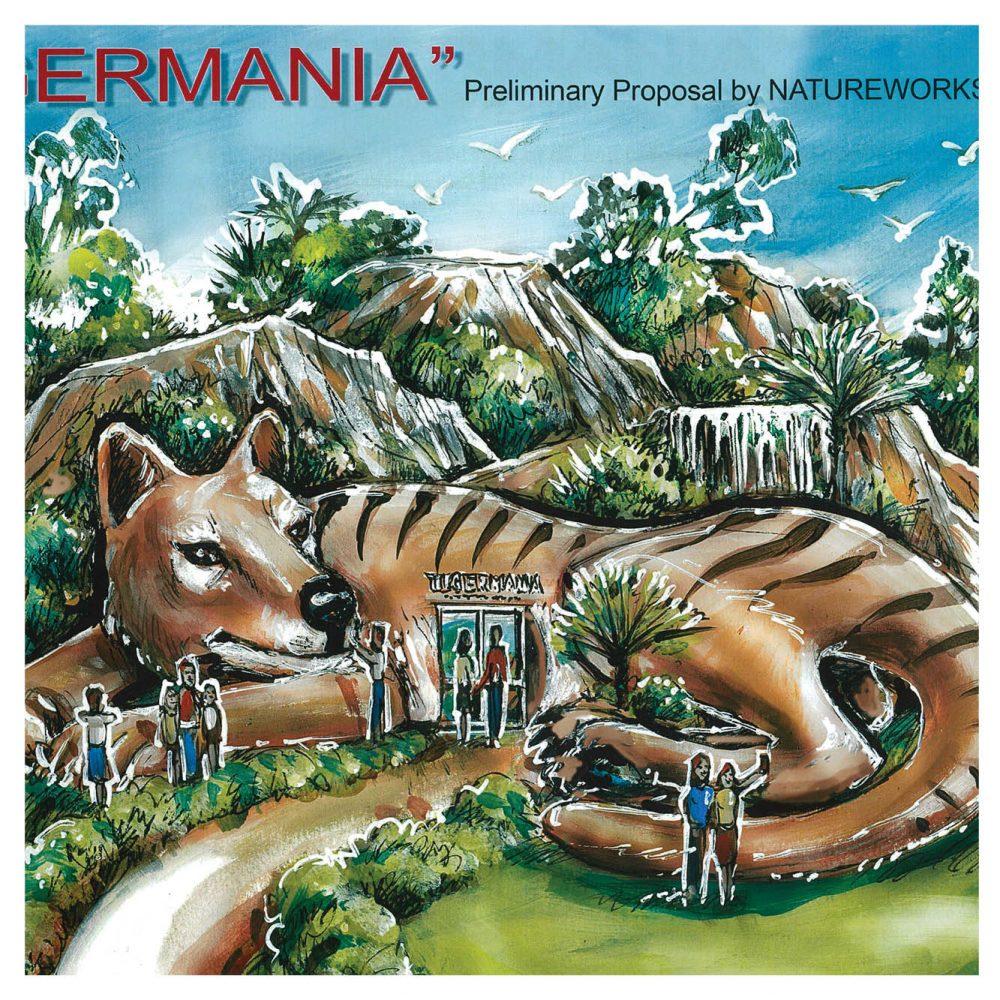 Tiger Mania concept - Giant tiger House
