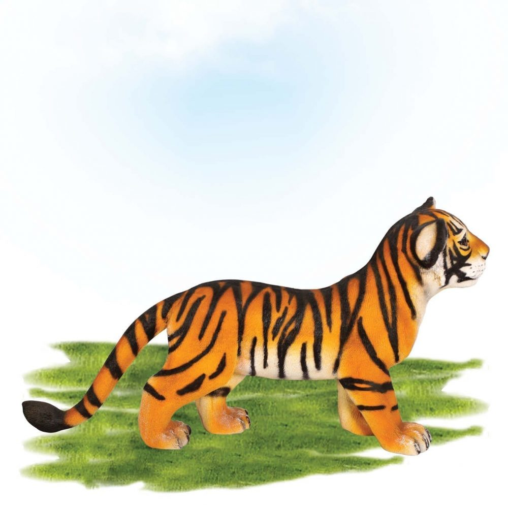 Bengal Tiger Cub - Standing statue