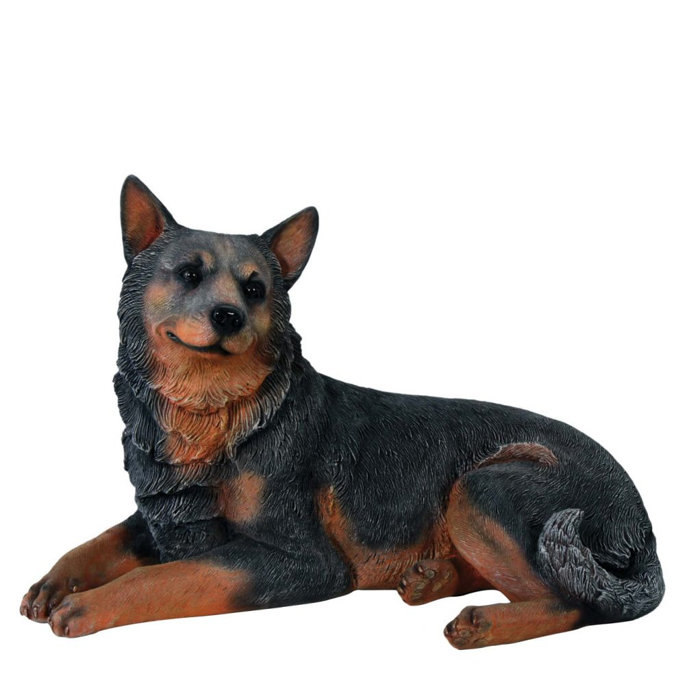 Fibreglass Blue Heeler Dog lying - replica