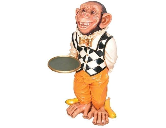 Monkey Butler Statue ft