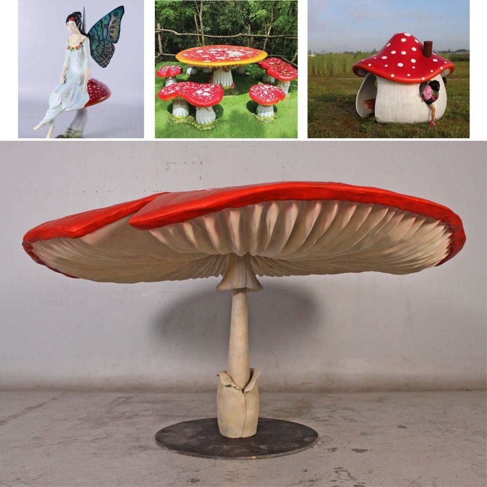 Mushroom Umbrella Giant mushroom m high Image scaled