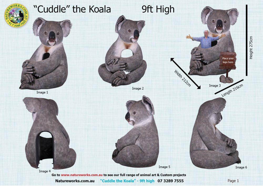 Natureworks Cuddle the Koala various views