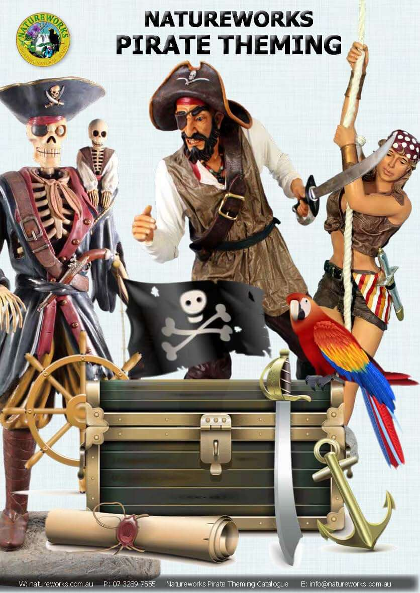 Pirate Theming Props -Life-size pirate props – mini-golf course and themed events