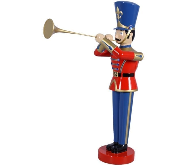 Nutcracker Toy Soldier Playing Trumpet