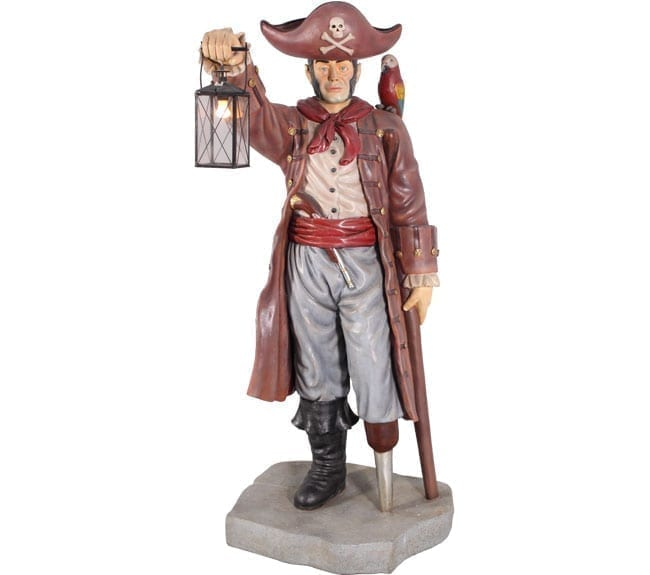 Pirate Statue with Lantern ft