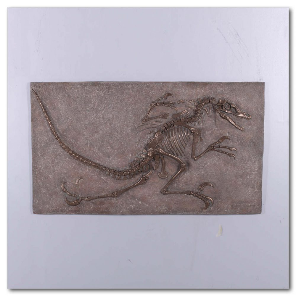 Prehistoric Dinosaur Fossil Digs Velociraptor Bronze without sides Product Image  px px