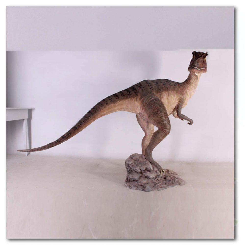 Prehistoric Dinosaur sculpture Allosaurs dinosaur mouth closed Product Image V px px
