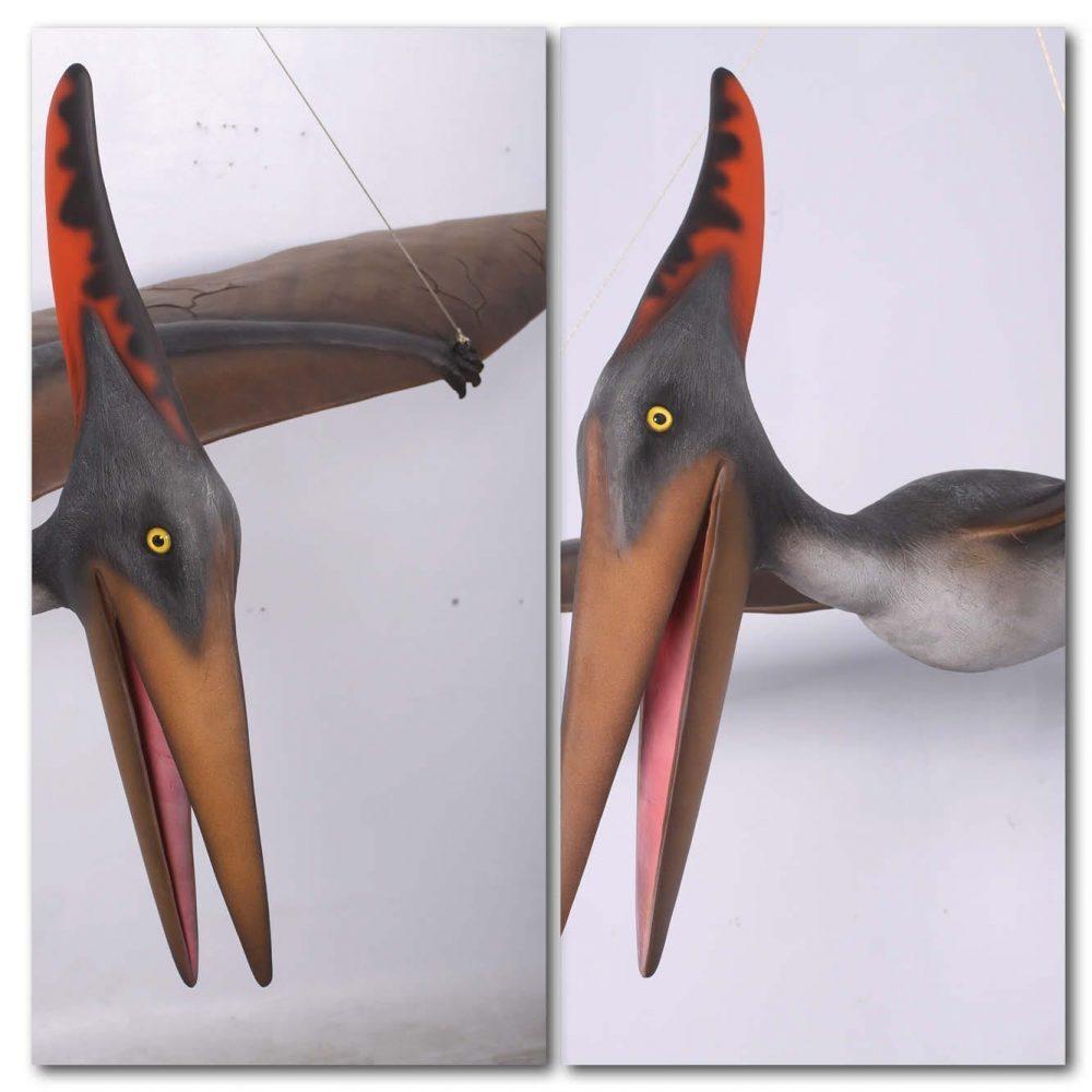 Prehistoric Dinosaur sculpture Pteranodon hanging m Product Image V px px