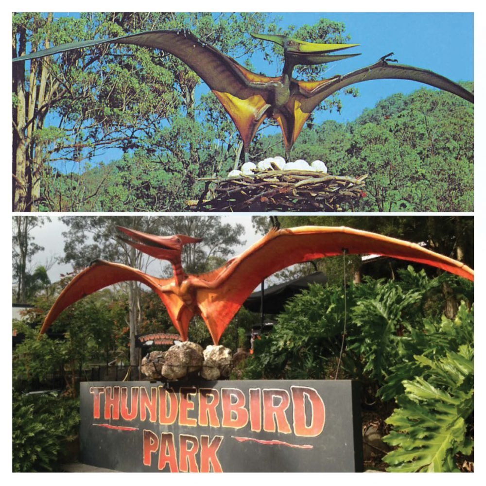 Prehistoric Dinosaur sculpture Pteranodon hanging m wing span Product Image V px px