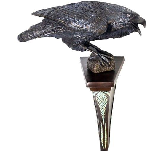 Raven Open Beak