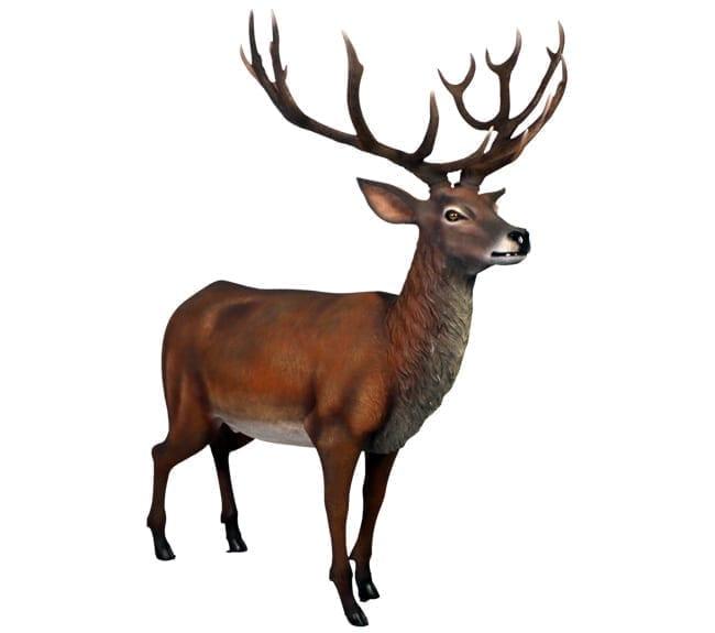 Red Stag Deer Sculpture