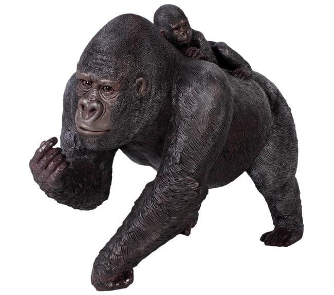 Resin Premate Statue Gorilla Statue with Baby