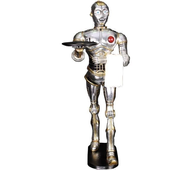 Robot Butler Statue Walking