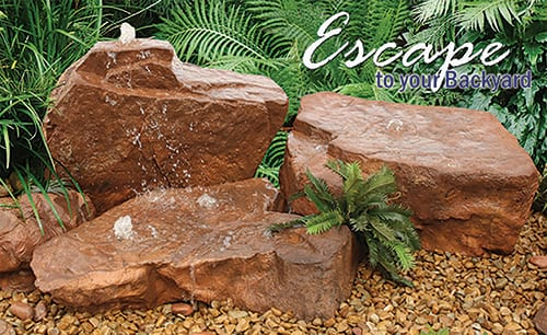 Rocks with fountains