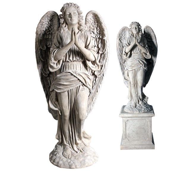 Roman Stone Angel Praying Sculpture