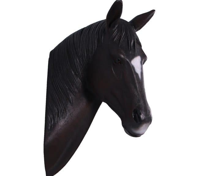 Seabiscuit Horse Head Sculpture
