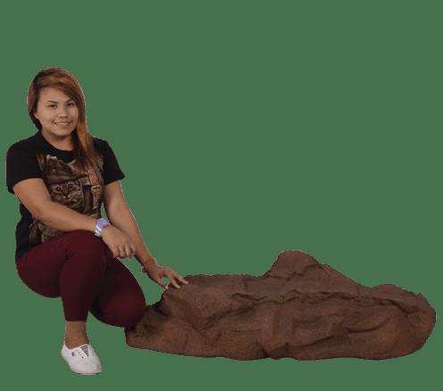 Siji Rock Medium Side View with girl