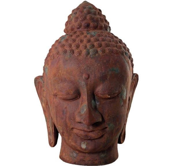 Thai Bhddha Head Sculpture