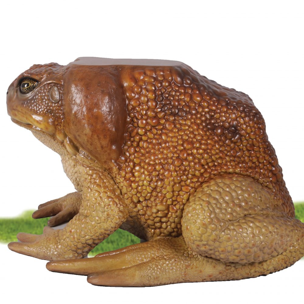 Toad Table base - Larger than life-size side view of sculpture