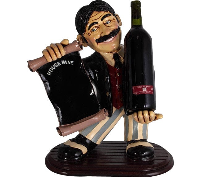 Waiter Statue With Wine And Board  ft