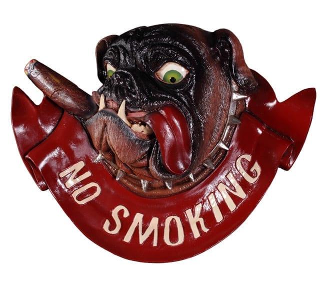 bulldog No Smoking Sign
