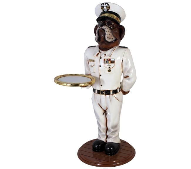 bulldog butler statue