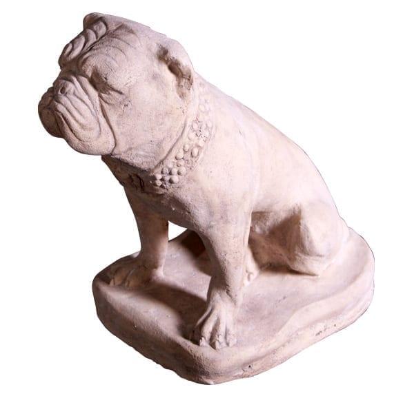 bulldog garden statue