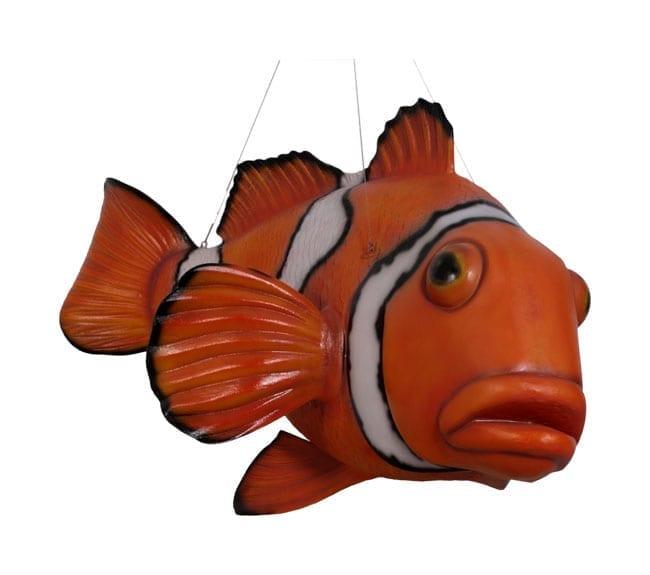 fibreglass clown fish hanging