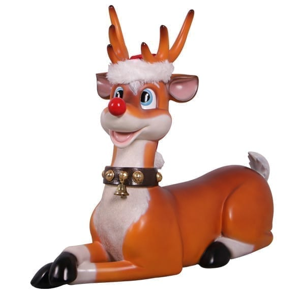 funny christmas reindeer statue