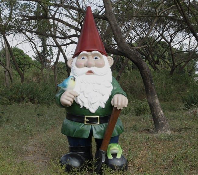 giant garden gnome statue