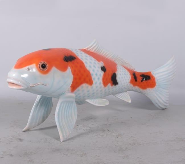 koi fish sculpture