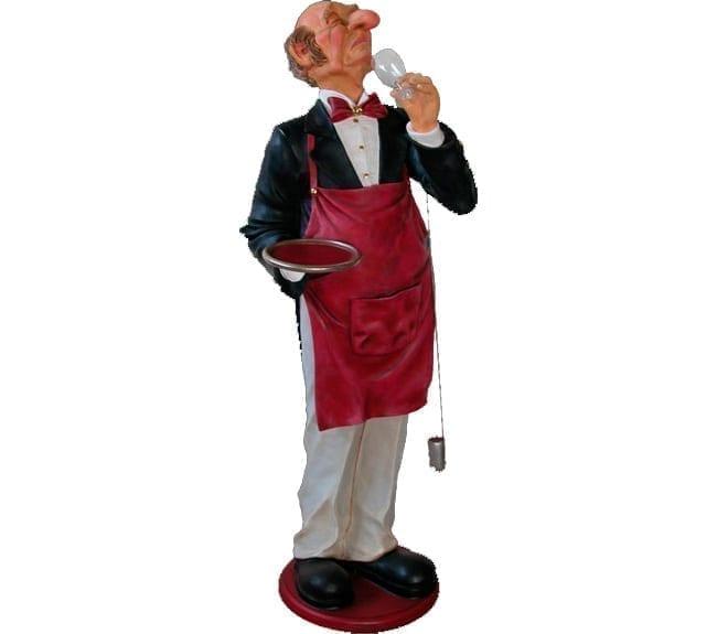 life size connoisseur butler statue