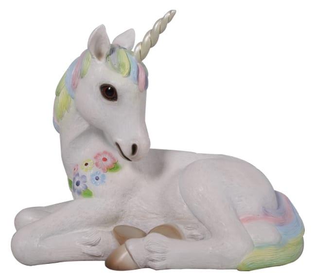 rainbow Unicorn foal resting
