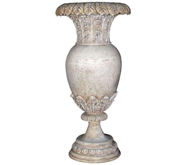 roman stone Floral Oviform Vase RS