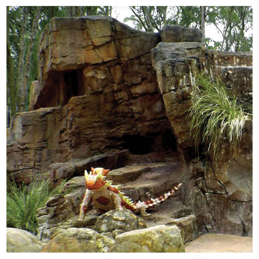 Artificial Rocks Caves Gumbuya Critters Cave outside with Thorny Devil Product Gallery  px px