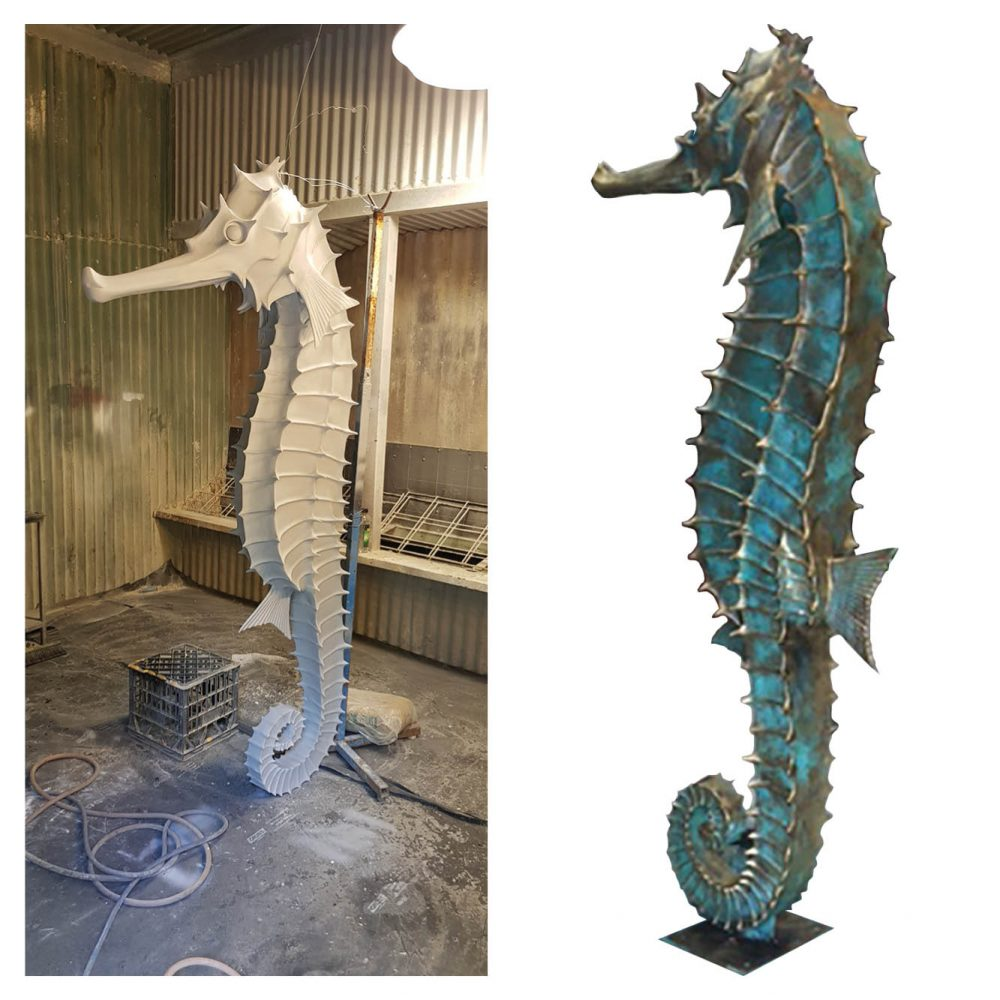 Big Things Marine Life Giant Seahorses in workshop Product Gallery  px px