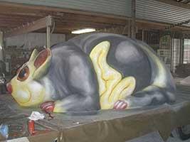Giant Fibreglass Glider Possum Sculpture InHouse   scaled