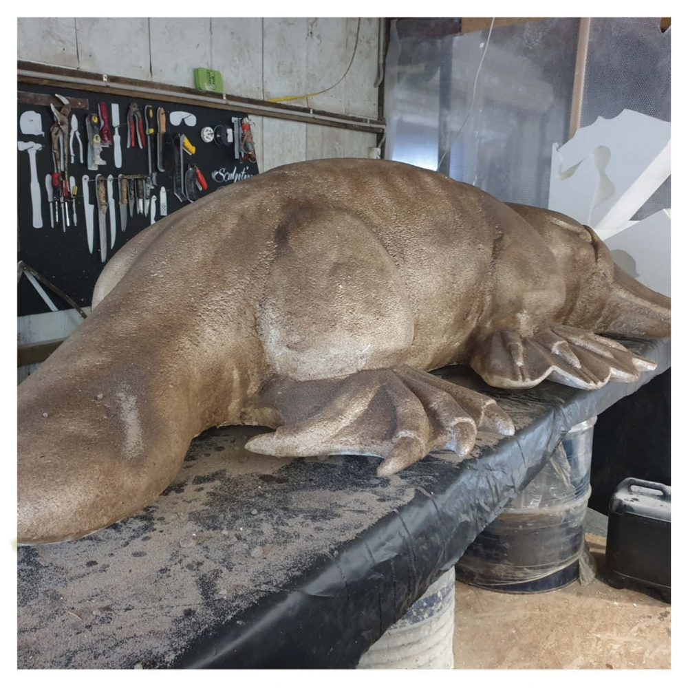 """Puggles"" the platypus- 2.5m long climb & Play sculpture"